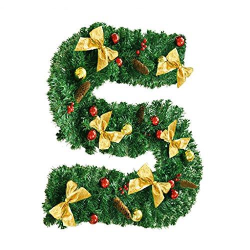 ZHongWei - Corona de Navidad Rota navideña - Corona navideña Centro Comercial Colgante de Pared del Hotel Corona 2 Colores, Longitud 2.7 M / 8.8 Ft Arboles de Navidad (Color : B-1 String)