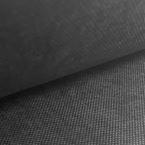 NOVELY® Viva Vlies Rückseitenvlies Spannvlies Inlettstoff Innenstoff Polstervlies Innenbezug | 80 100 120 150 g/m² | 1 lfm x 160cm Grammatur: 80 g/m2 | Farbe: Schwarz