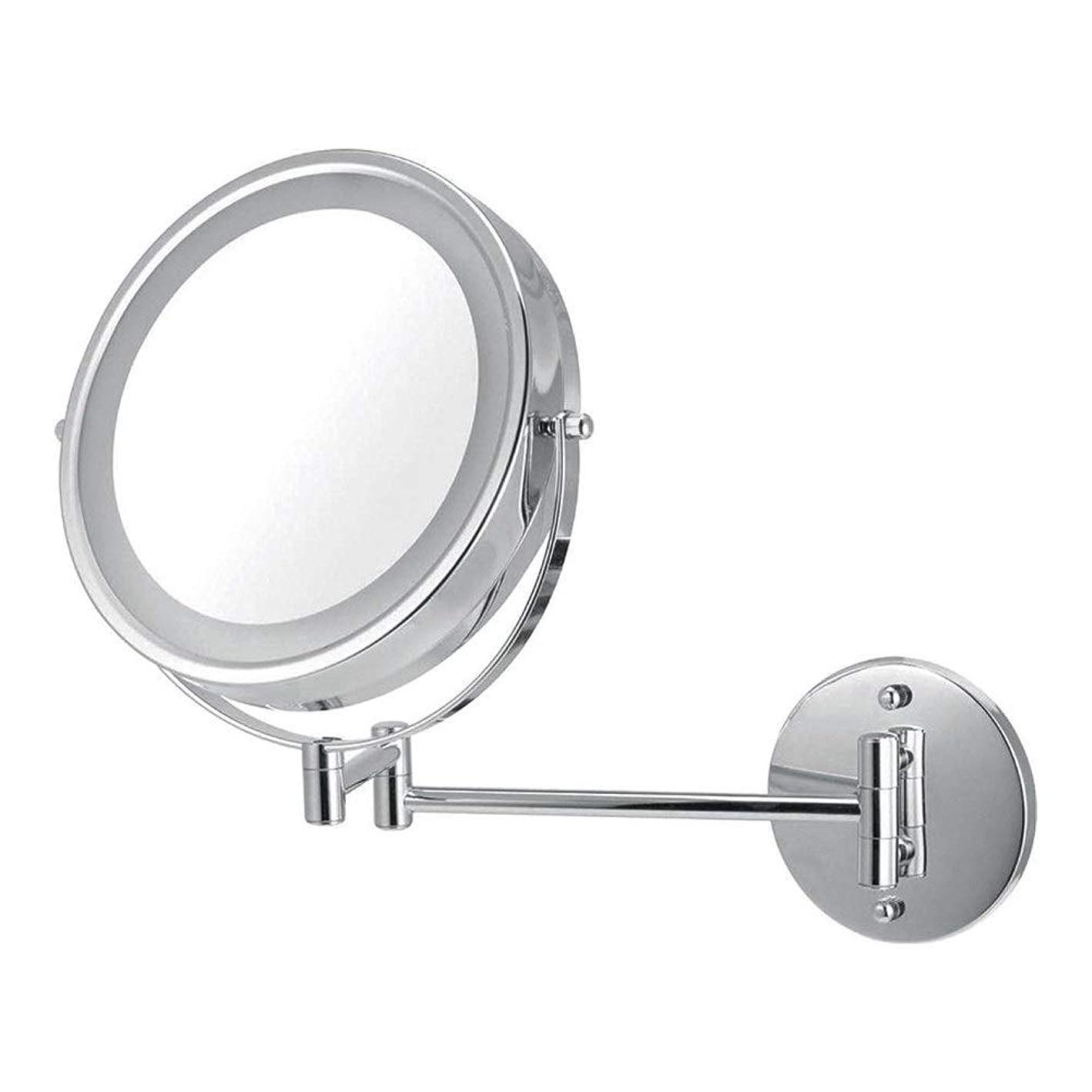 保守的気楽なビジネスLEDライト、ウォールマウントバニティミラー5X調光浴室鏡が2フェースメイクミラー