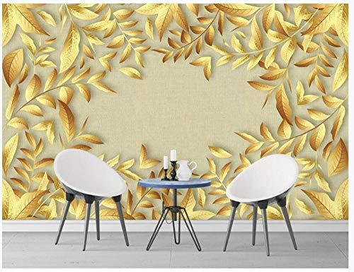 papel pintado pared Fotomurales Tejido No Tejido 3D Decoración De Pared Mural Imagen Fotográfico Anillo De Hoja De Oro