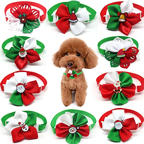 Masue Pets 10pcs/Pack Christmas Dog Bowtie Puppy Cat Dog Ties Bows Necktie Dog Grooming Accessories...