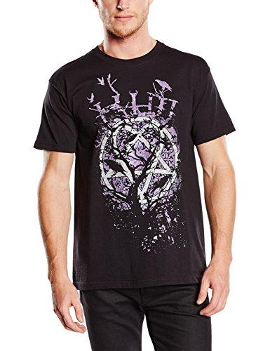 Him Herren Crows T-Shirt, Schwarz (Black), Large