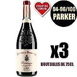 X3 Château Beaucastel'Hommage à Jacques Perrin' 2014 75 cl AOC Châteauneuf du Pape Vino Tinto
