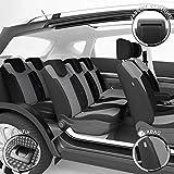 DBS - Housses de siège sur Mesure pour Lodgy (04/2012 à 12/2018) | Housse Voiture/Auto d'intérieur | Haut de Gamme | Jeu Complet en Tissu | Montage Rapide