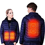 SUPTEMPO Women's Men's Heated Jacket Electric Heating Jacket Winter Warm Jackets for Women and Man (Blue, XXL)