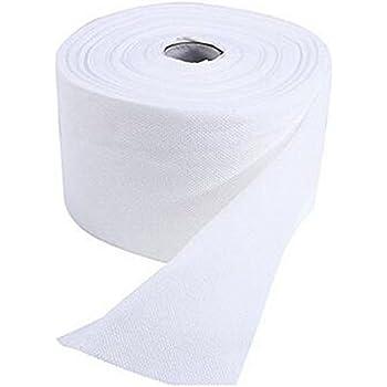 1 rollo de toallitas desechables de algodón suave para el rostro. Utensilios para quitarse el maquillaje facial o lavarse la cara (color blanco): Amazon.es: Belleza