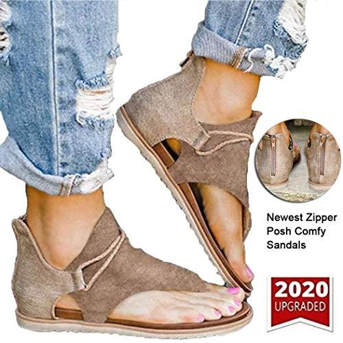 Vrouwen comfortabele sandalen Retro Leopard Zip Flip Flop Sandalen Zomer Casual Posh platte sandalen