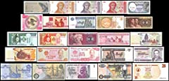 25 Banknotes from Around the World Great Condition
