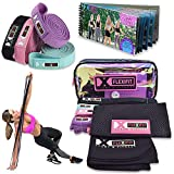 4 Fabric Resistance Exercise Bands Set for Women - Workout Heavy Long Body Bands | Fitness Loops Upper Arm Weights Strength Training Stretch Pull Up Booty Band, Resistant Mobility Gym Equipment