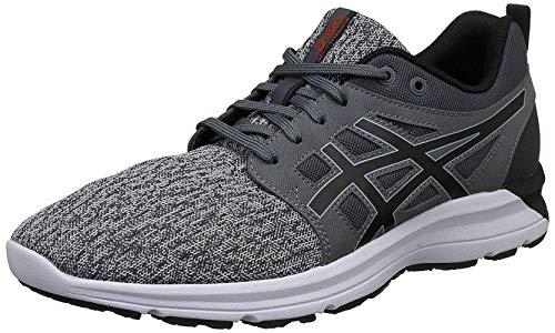Asics Hombres Gel-Torrance Bajos & Medios Cordon Zapatos para Correr, Carbon/Black/Cherry Tomato, Talla 8