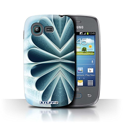 Var voor SGJP-CC Abstract Art Samsung Galaxy Pocket Neo/S5310 Boek/Papier Bloem