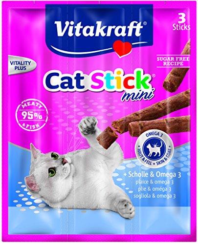 Vitakraft Cat Stick® - Snack per gatti in lana e omega 3,...
