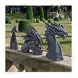 Grande Statue de décor de Jardin Gothique de Dragon - Statue de pelouse de fossé du château de Falkenberg, Sculptures et Statues de Jardin, Statue résistante au Gel et à l'hiver pour Le Jardin (A)