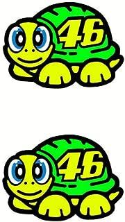 piggystickers Valentino Rossi Sticker Fluorescent Yellow 2019 Turtle Vinyl.
