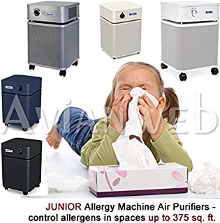 Austin JUNIOR Allergy Machine Air Purifier with True Medical HEPA and Carbon/zeolite Blend Filters (Sandstone)