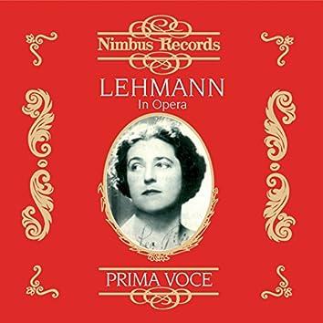 Lehmann in Opera (Recorded 1916 - 1921)