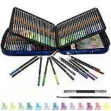 Lápices de Colores Acuarelables Profesionales, juego de 120, Lápices Acuarelables con pincel de agua, Ideal para Adultos y Niños para colorear, mezclar, poner en capas y técnicas de acuarela