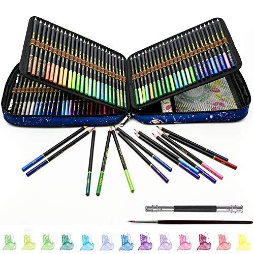 Professionelles Aquarell Buntstifte für Erwachsene und Kinder, 120 Buntstifte Set mit hochwertige Minen und Buntstifte zum Verblenden, Aquarellfarbstifte zum Zeichnen, Skizzieren und Malen