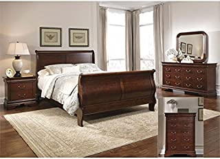 Liberty Furniture Carriage Court King Sleigh Bed Dresser & Mirror Chest NS