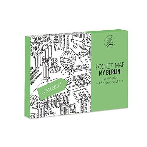 OMY Berlin Pocket Map, papier, meerkleurig