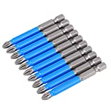 【𝐁𝐥𝐚𝐜𝐤 𝐅𝐫𝐢𝐝𝐚𝒚 𝐋𝐨𝒘𝐞𝐬𝐭 𝐏𝐫𝐢𝐜𝐞】Strong Magnetic Bits, Screwdriver Bit Set, 10Pcs Anti Slip 2.6Inch Electric Anti-Rust Magnetic Drill Steel Material for Drill Iron Material