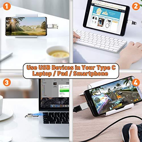 ZERKAR USB Typ C auf USB 3.0 Adapter, 3 Stücke OTG USB C Adapter, Thunderbolt 3 to USB 3.1, für Google Pixel 4XL, Huawei P40/Mate30, MacBook Pro/ChromeBook, Pad Pro, Samsung Galaxy