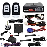 EASYGUARD EC010-MS PKE car Alarm Passive keyless Entry with Push Button Start & Remote Starter, Microwave...
