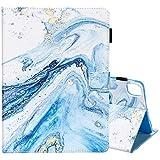 Casii Schutzhülle für iPad Air 4 27,7 cm (10 Zoll) 2020, Pro 11 Hülle 2020/2018, ultraleicht, schützende PU Leder magnetische Abdeckung mit Auto Sleep/Wake Kartenfächer 4. Generation (Blau Marmor)