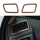 Thenice for CRV ABS Peach Wood Grain Air Vent Trims Wind Outlet Decoration Dashboard Stickers Interior Mouldings for Honda CR-V 2017 2018 2019 2020