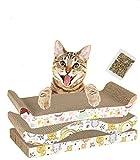 Old Tjikko Cat Scratcher,Cat Scratch Board,Cardboard Cat Scratchers Recyclable Triangle Scratching Pad Scratch-Resistant Bed Sofa for Cat (3 pack 02)