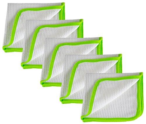 Liquid Elements 5X Streak Buster Scheibenreinigungs-Tuch 400 GSM 35 x 35 cm