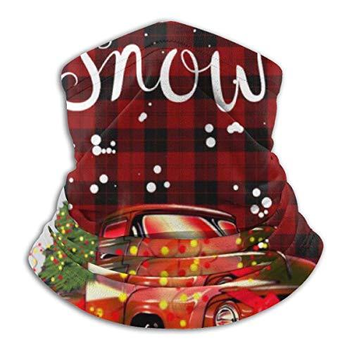 asdew987 Polaina rústica para el cuello del camión rojo de la nieve, para la cabeza, máscara del sol, bufanda mágica, bandana, pasamontañas, diadema para deportes