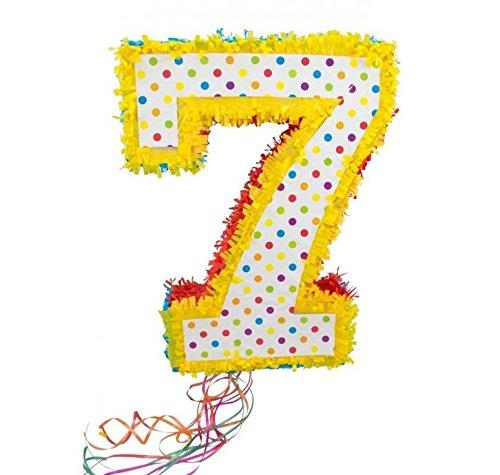Folat Piñata * Zahl 7 * für den 7. Kindergeburtstag | handgefertigt |