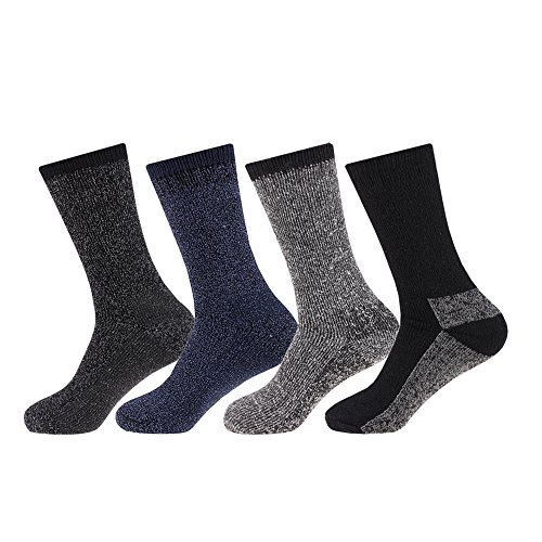 Arctic Comfort NEW 4 pairs Mens Arctic Comfort Thick Thermal Wool Socks...