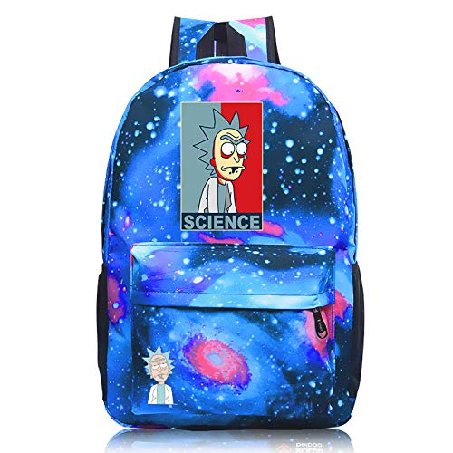 FDQNDXF Rick And Morty Backpacks, A Unisex Waterproof Oxford Cloth Large-Capacity Portable Backpack, Durable Multifunctional Leisure Daypack,2