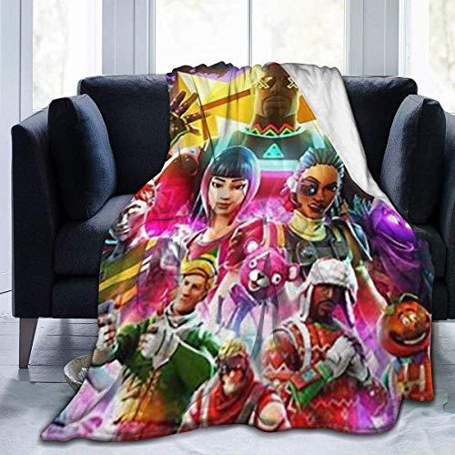 leyhjai FO_TNITE Ba_ttle Ro_Yale Ultraweiche Micro-Fleece-Decke Anti-Pilling-Flanell-Schlafkomfort Superweiche Sofadecke für 80