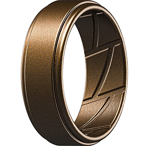 ThunderFit Silicone Wedding Ring for Men - 1 Ring (Bronze, 12.5 - 13 (22.2mm))