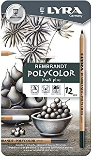Lyra Rembrandt Polycolor ProfiPlus Colouring Pencil Tin - 12 x GREY TONES by Lyra