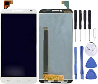 Lingland LCD Screen and Digitizer Full Assembly for Alcatel One Touch Idol 2/6037(Black) .الهاتف الخليوي الخلفي يغطي أجزاء...