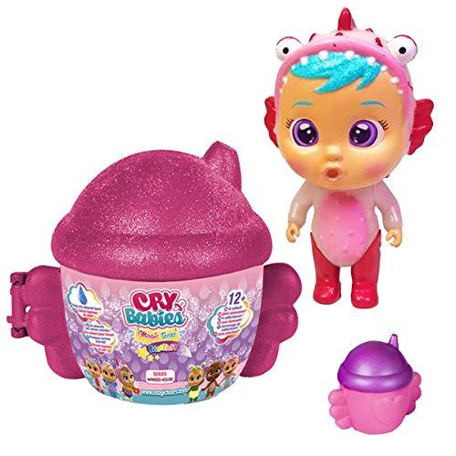 Cry Babies Magic Tears Winged House Series - Mini Chilloncitos - ( Color Cherry Cereza y Muñeco Aleatorio )