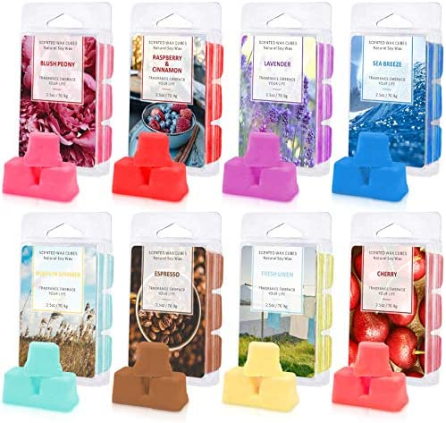 STRN Scented Wax Melts Soy Wax Cubes Wax Melts Wax Cubes 2 5 oz X 8 Pack for Warmer Cubes Tarts product image