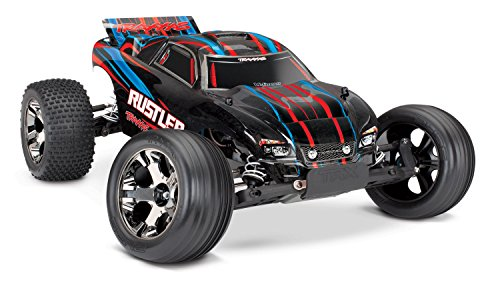 Traxxas 37076-4 Rustler VXL 2WD Brushless Stadium Truck, Red