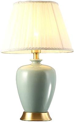 Tintement Lampe De Table En Céramique - Lampe De Chevet Warm Home Study Bedroom/Taille 52 * 33CM / Source De Lumière Chaude LED E27 * 1 Tintement