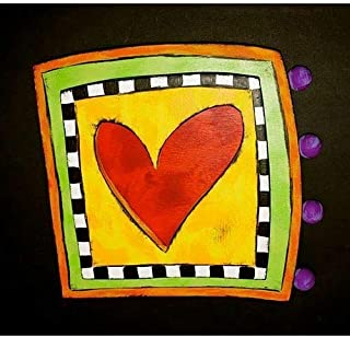 Kinks & Quirks Wall Art Heart in a Square by Tra Art Studio…