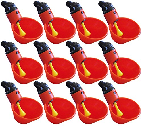 Rite Farm Products (12) AUTOMATIC WATERER DRINKER CUPS CHICKEN POULTRY TURKEY DRINK