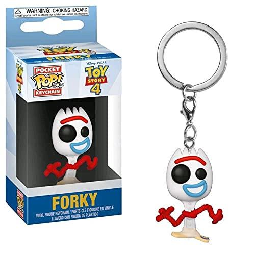 QIYV Funko Pop Llavero Toy Story 4 Kawaii Q Versión Anime Figura Tenedor En Caja Pop Vinilo Figuras De Acción Juguete 5Cm, Regalos De Cumpleaños para Niños
