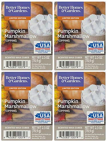 Better Homes and Gardens Pumpkin Marshmallow Topping Scented Wax Cubes - 4-Pack