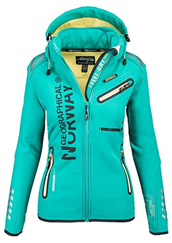 98Z3 Geographical Norway Reine Lady Damen Softshell Jacke Lagune Gr. L