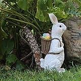 NYKK Ornamento de Escritorio Decoración de la Resina de Conejo Muy Detallada rústica Jardín Adornos de Navidad Diversión Decoración Interior o de Exterior artesanías decoración