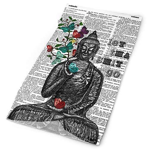 Redcong Sport Headbands, Headwear Buddha Butterflies Scarf Head Wrap, Bandana Sweatband,Tube Mask for Outdoor Workout